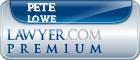 Pete Lowe  Lawyer Badge
