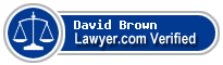 David J. Brown  Lawyer Badge