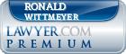 Ronald F. Wittmeyer  Lawyer Badge