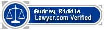 Audrey Melissia Black Riddle  Lawyer Badge