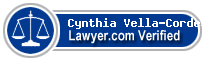 Cynthia Vella-Cordes  Lawyer Badge