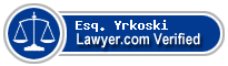 Esq. James Phillip Yrkoski  Lawyer Badge
