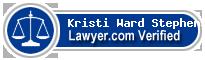 Kristi Ann Ward Stephens  Lawyer Badge