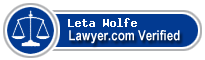 Leta Ann Wolfe  Lawyer Badge