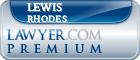 Lewis Rhodes  Lawyer Badge